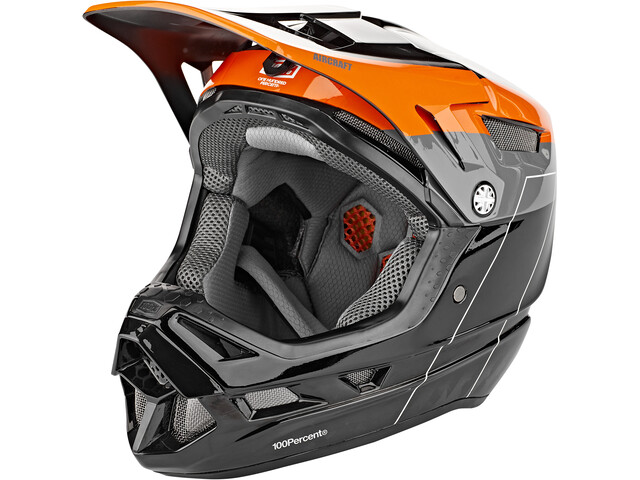 100% Aircraft DH Helm inkl. Mips darkblast